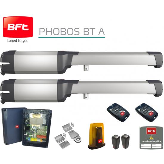 Automatizare porti batante 2 x 2.5m, BFT PHOBOS BT A25 KIT