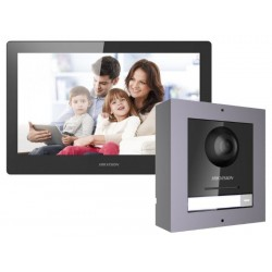 "Kit videointerfon ip Hikvision 10"" DS-UNI-10W"